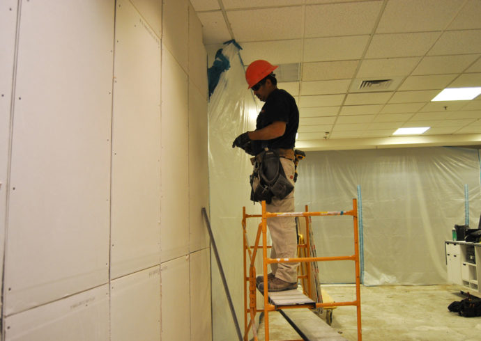 Sealing off work area